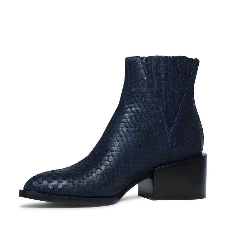 dunkelblaue chelsea boots mit absatz damenschuhe 115. Black Bedroom Furniture Sets. Home Design Ideas