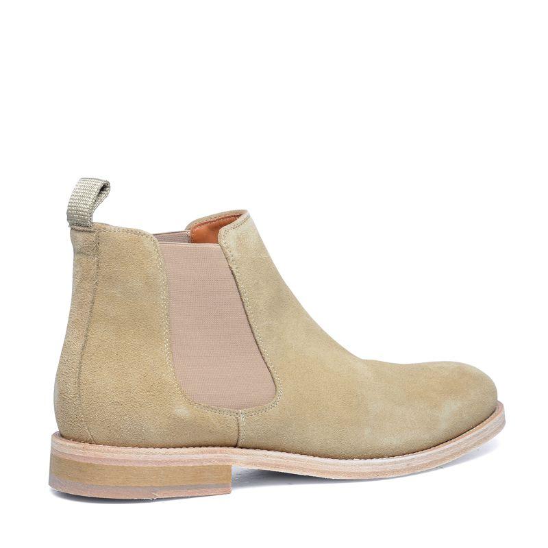 chelsea boots en daim beige hommes sacha. Black Bedroom Furniture Sets. Home Design Ideas