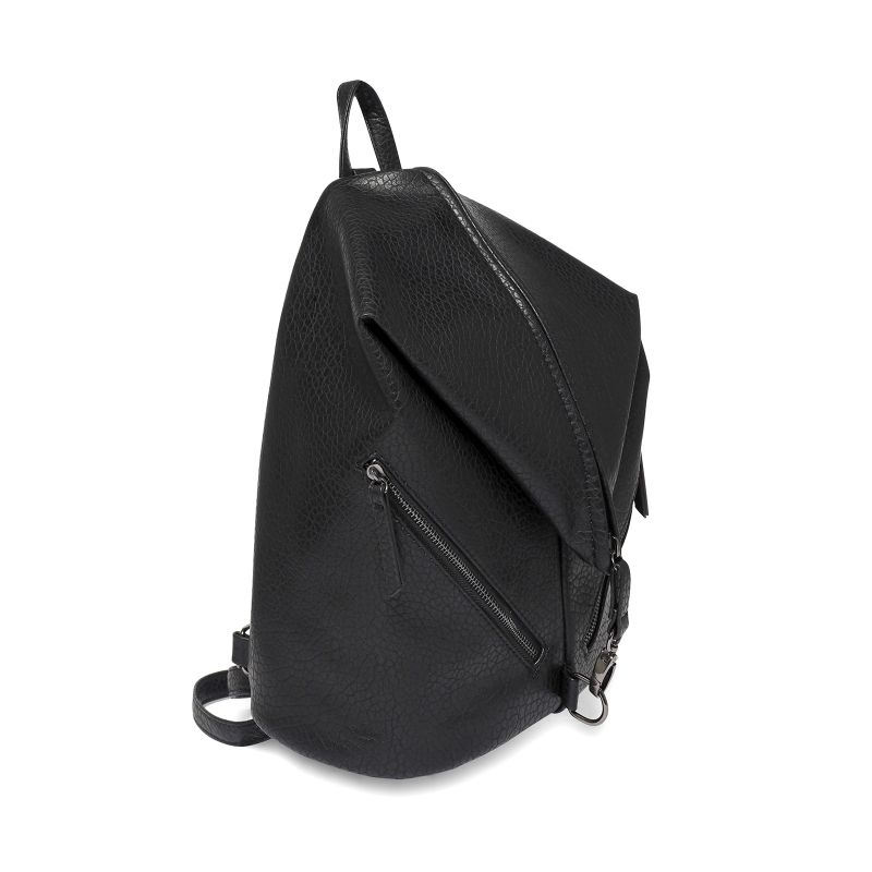 schwarzer rucksack mit rei verschl ssen taschen 16. Black Bedroom Furniture Sets. Home Design Ideas