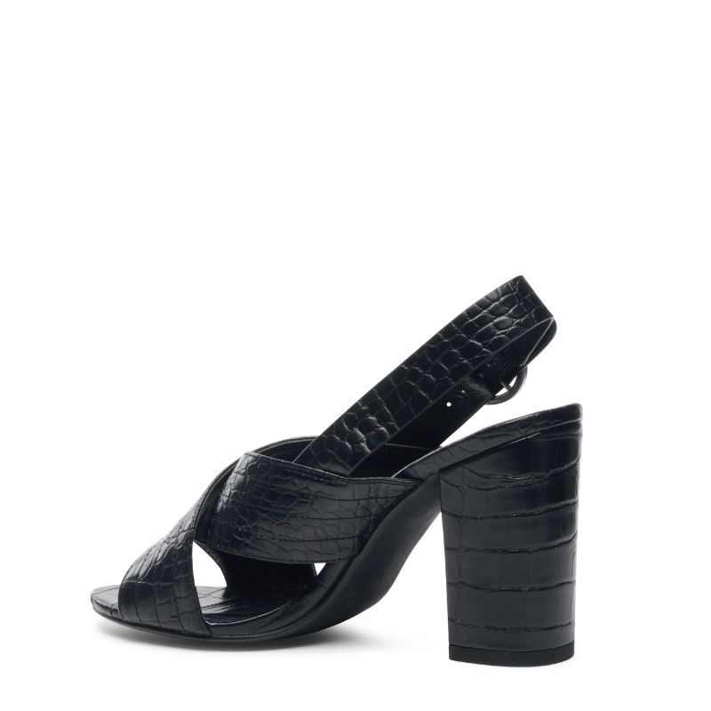 Schwarze sandaletten mit subtilem muster damenschuhe for Schwarze tapete mit muster