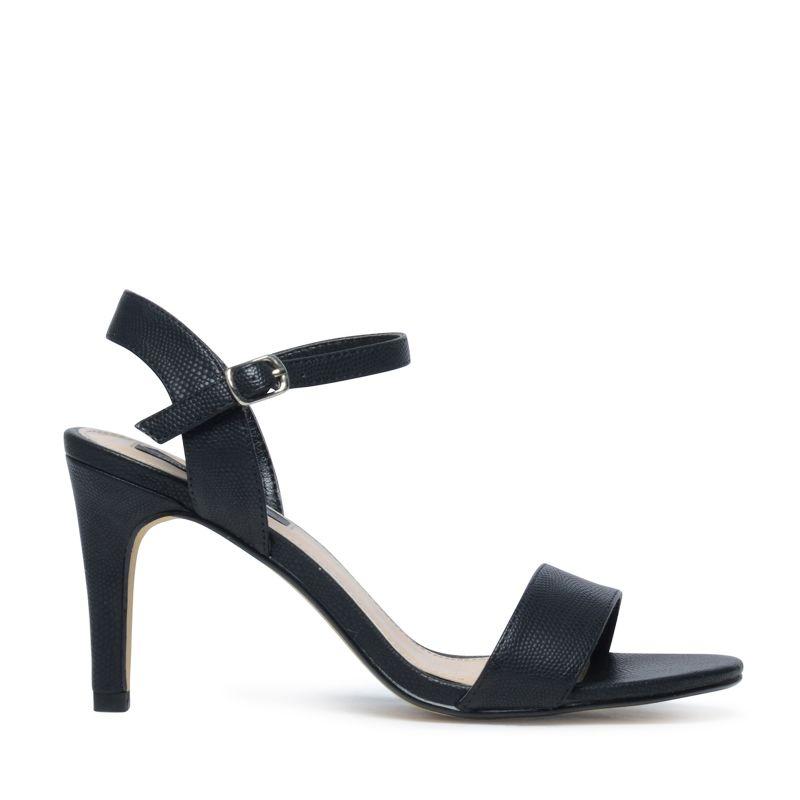 sandales talon noir femmes. Black Bedroom Furniture Sets. Home Design Ideas