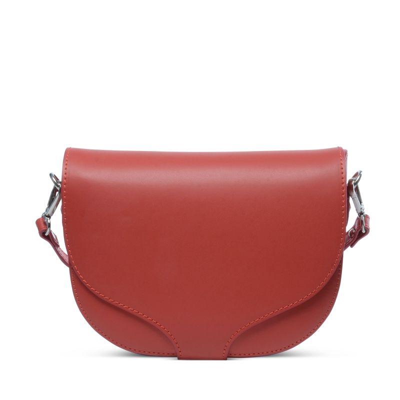 Schoudertas Studs : Rode schoudertas met studs tassen sacha