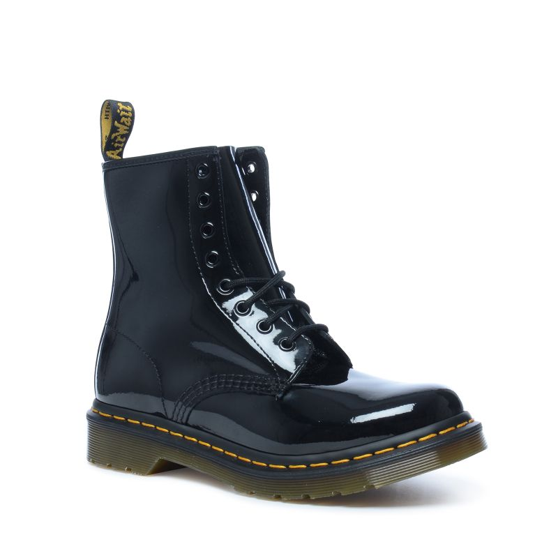Brand Dr Martens' boots and shoes define generations of rebel style and anti-fashion. With yellow welt stitching and an air-cushioned sole, each pair is chunky, durable and comfortable.
