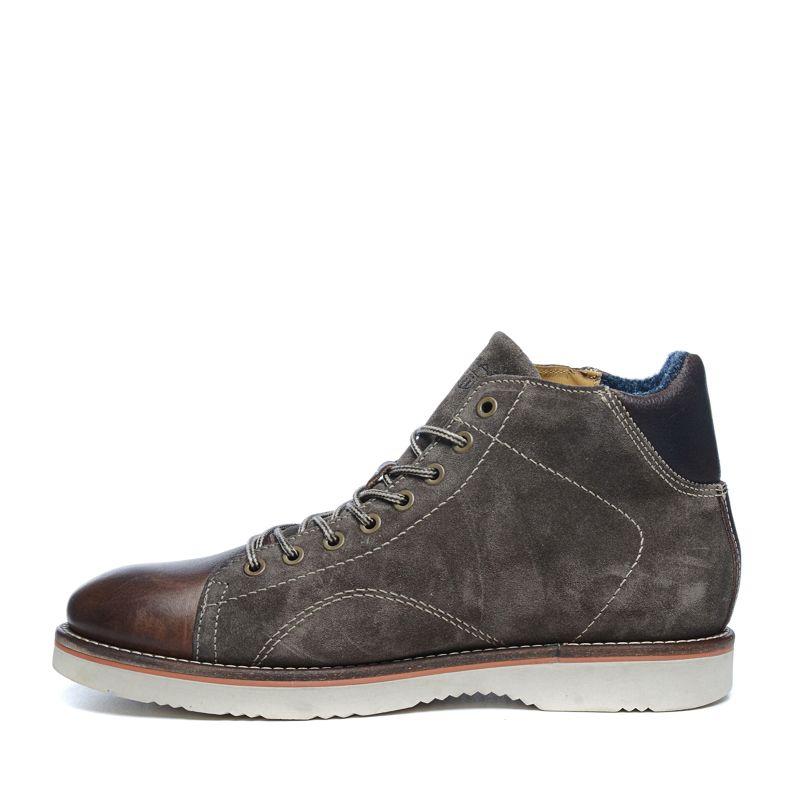 gant boots lacets avec daim et cuir marron hommes. Black Bedroom Furniture Sets. Home Design Ideas