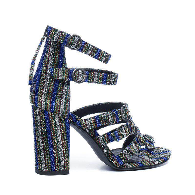 sandaletten mit glitzer damenschuhe sacha. Black Bedroom Furniture Sets. Home Design Ideas