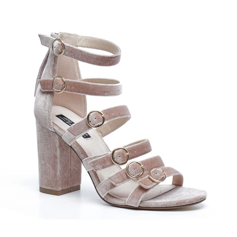 sandales en velours avec talon vieux rose femmes sacha. Black Bedroom Furniture Sets. Home Design Ideas