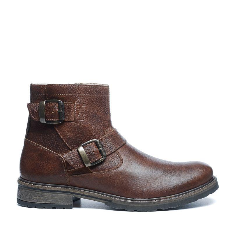 cognacfarbene boots mit schnallen herrenschuhe. Black Bedroom Furniture Sets. Home Design Ideas