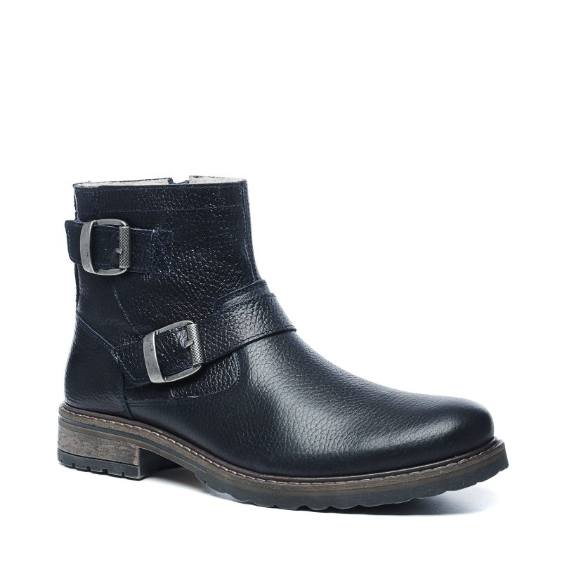 schwarze boots mit schnallen herrenschuhe sacha. Black Bedroom Furniture Sets. Home Design Ideas