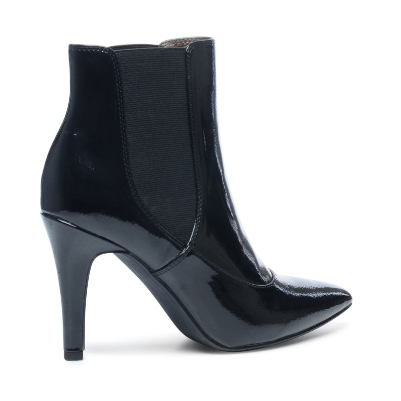bottines vernies avec bout pointu noir femmes 35. Black Bedroom Furniture Sets. Home Design Ideas