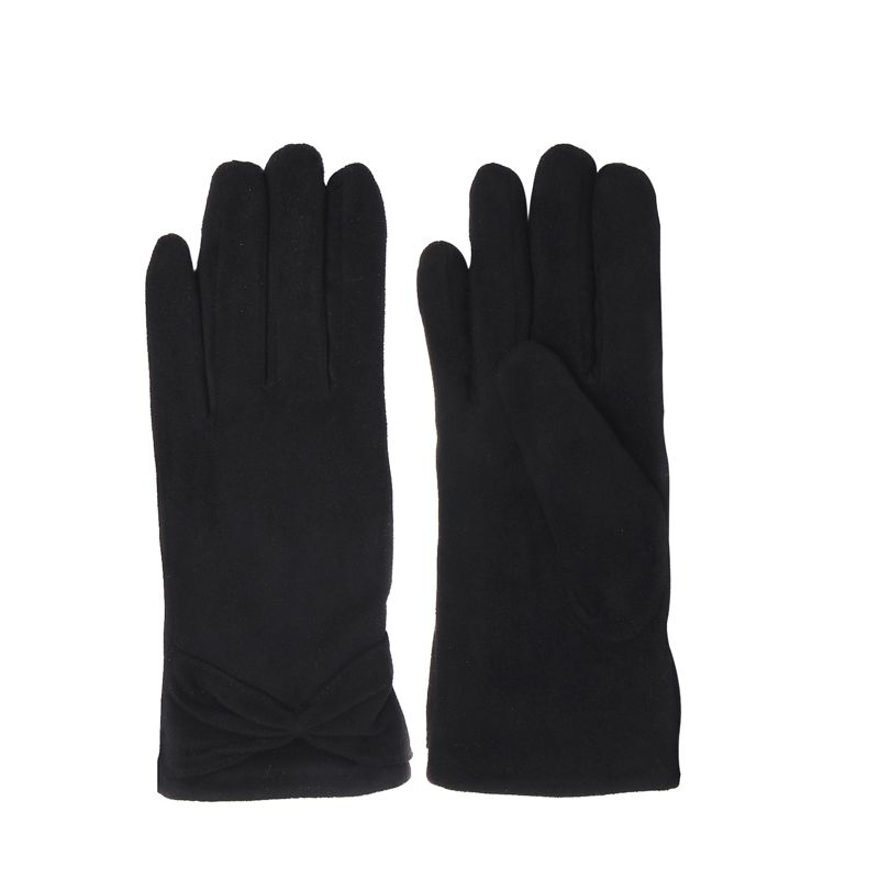 schwarze handschuhe mit schleife accessoires. Black Bedroom Furniture Sets. Home Design Ideas