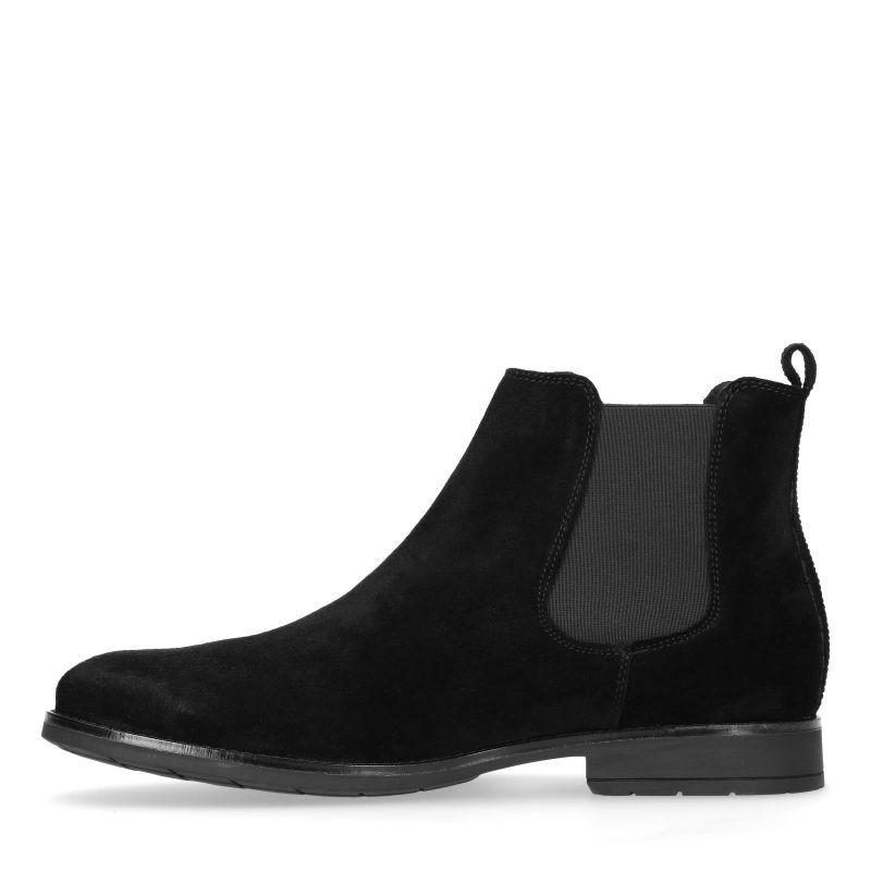 schwarze chelsea boots aus veloursleder herrenschuhe sacha. Black Bedroom Furniture Sets. Home Design Ideas
