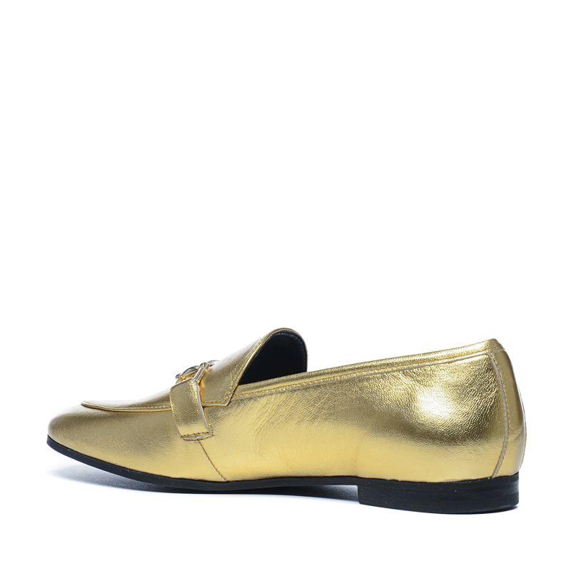 goldene metallic loafer damenschuhe. Black Bedroom Furniture Sets. Home Design Ideas