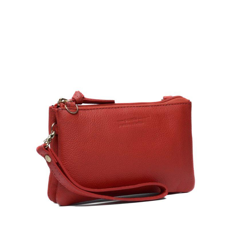 kleine rote clutch taschen