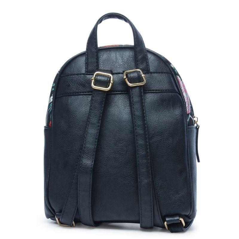 kleiner schwarzer rucksack mit blumenmuster taschen sacha. Black Bedroom Furniture Sets. Home Design Ideas