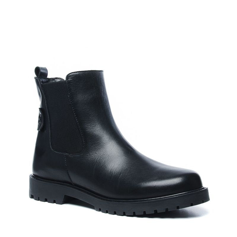 schwarze chelsea boots aus leder damenschuhe sacha. Black Bedroom Furniture Sets. Home Design Ideas