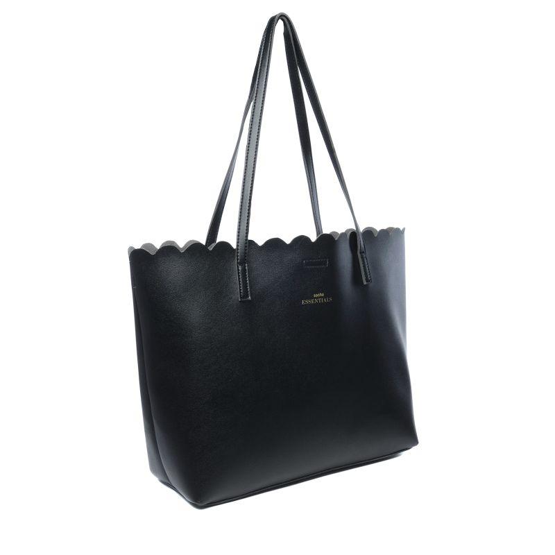 schwarze handtasche mit clutch taschen. Black Bedroom Furniture Sets. Home Design Ideas