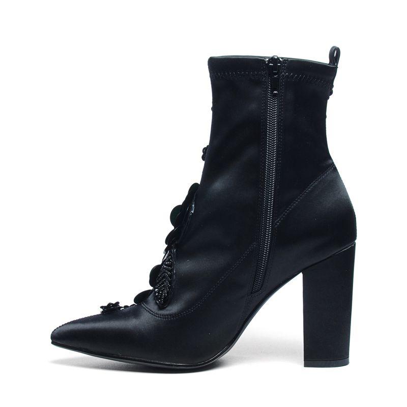 bottines avec paillettes et petites perles noir femmes sacha. Black Bedroom Furniture Sets. Home Design Ideas