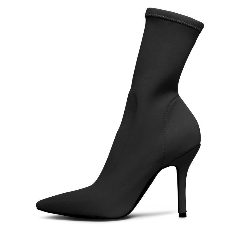 schwarze sock boots mit absatz damenschuhe sacha. Black Bedroom Furniture Sets. Home Design Ideas