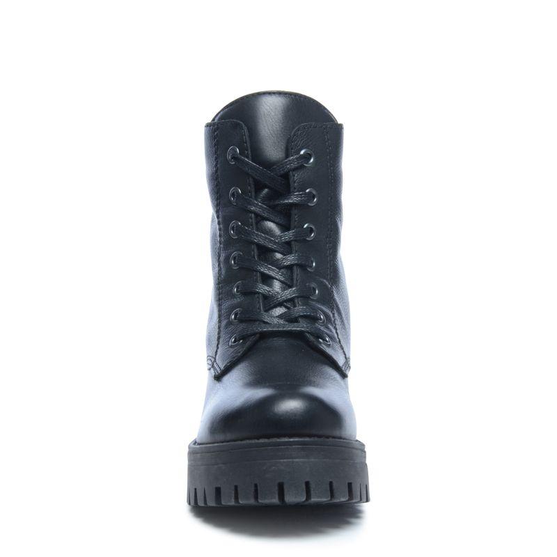 schwarze biker boots mit blockabsatz damenschuhe sacha. Black Bedroom Furniture Sets. Home Design Ideas