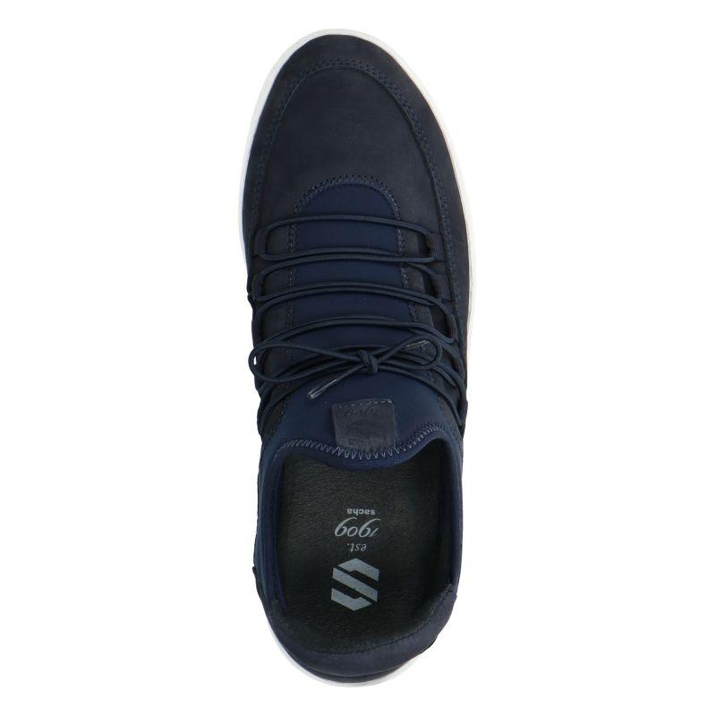 dunkelblaue sneaker mit wei er sohle herrenschuhe sacha. Black Bedroom Furniture Sets. Home Design Ideas