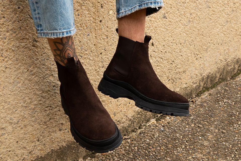 donkerbruine laarzen