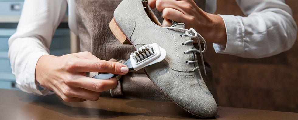 Suède schoenen schoonmaken