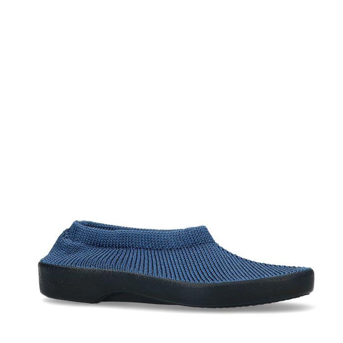 Slip-on en tissu - bleu