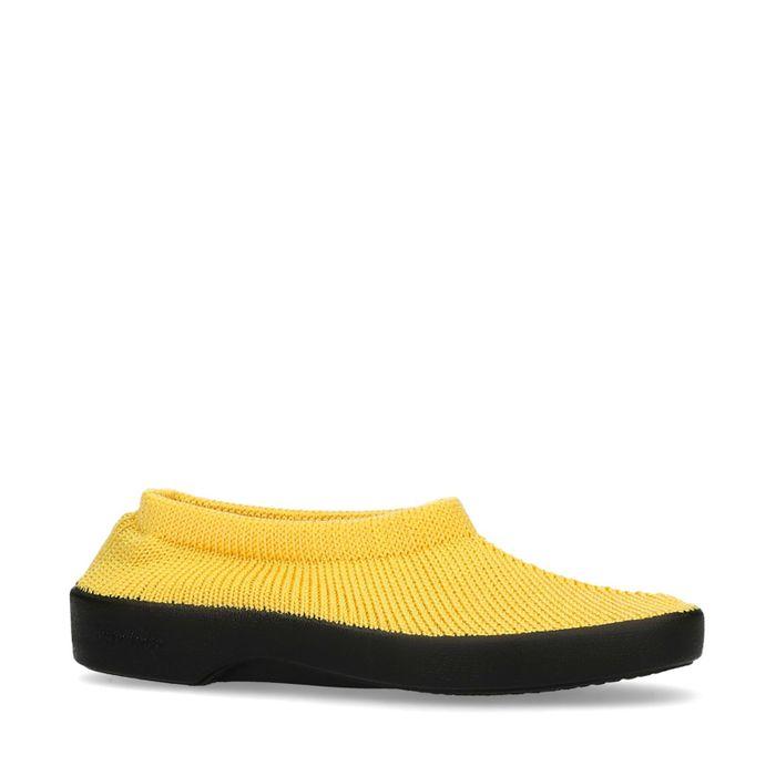 Slip-on en tissu - jaune