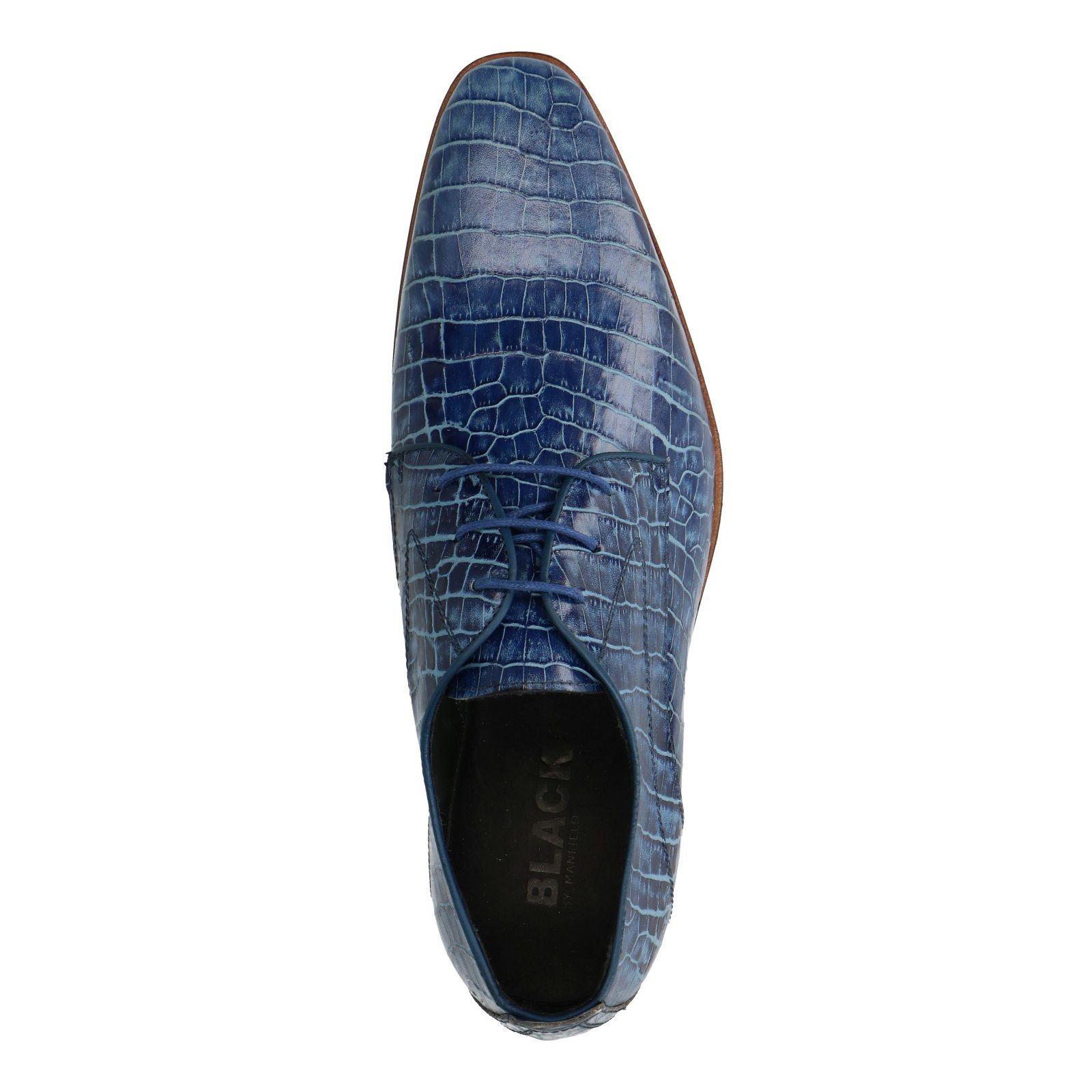heren schoenen blauw croco