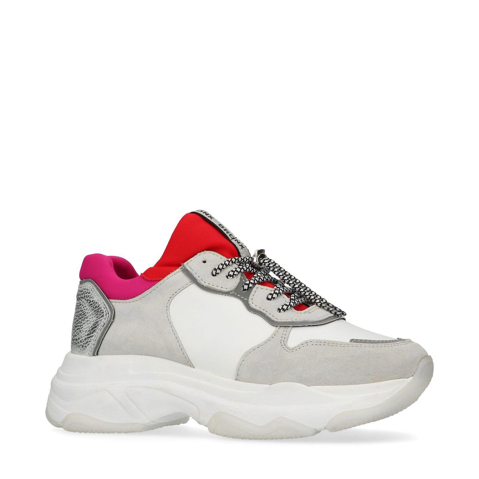 Cuir Dad Détails Blanc Roserouge Bronx En Shoes Avec xodBCer