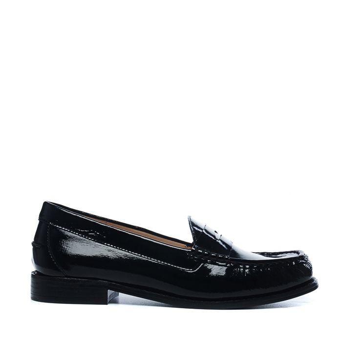 Zwarte lak loafers