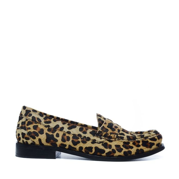 Loafers avec imprimé léopard
