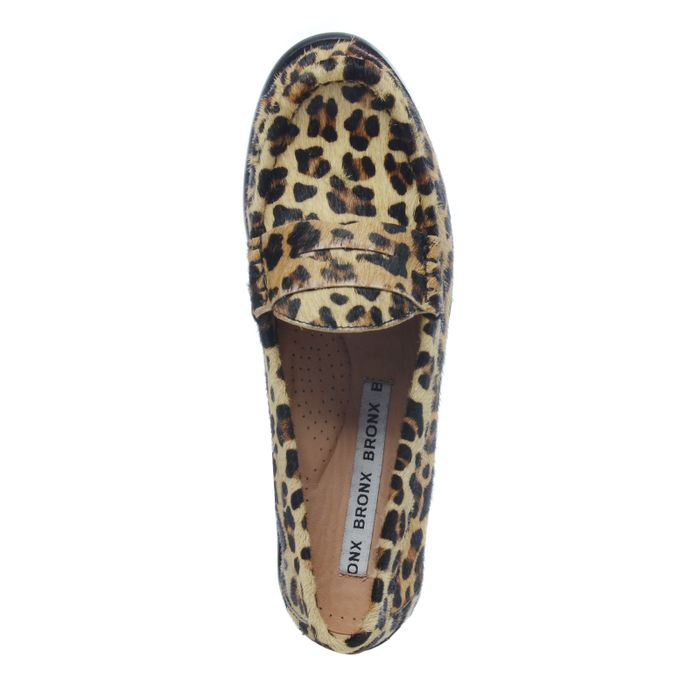 Loafer mit Leopardenmuster