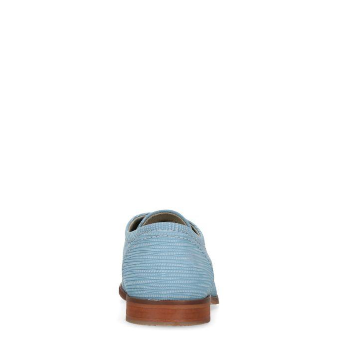 Blauwe veterschoenen met patroon