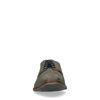 Kakifarbene Schnürschuhe mit Krokomuster