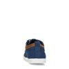 Blaue Schnürschuhe mit braunen Details