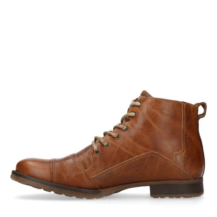 Boots à lacets décontractées - cognac