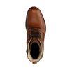 Boots à lacets avec détails rugueux - cognac