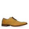 Chaussures à lacets en cuir avec imprimé croco - jaune