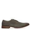 Chaussures à lacets en cuir avec imprimé croco - kaki