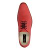 Chaussures à lacets en cuir avec imprimé croco - rouge