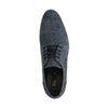 Chaussures à lacets en nubuck avec imprimé - bleu