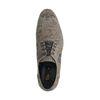 Chaussures à lacets en nubuck avec imprimé - vert
