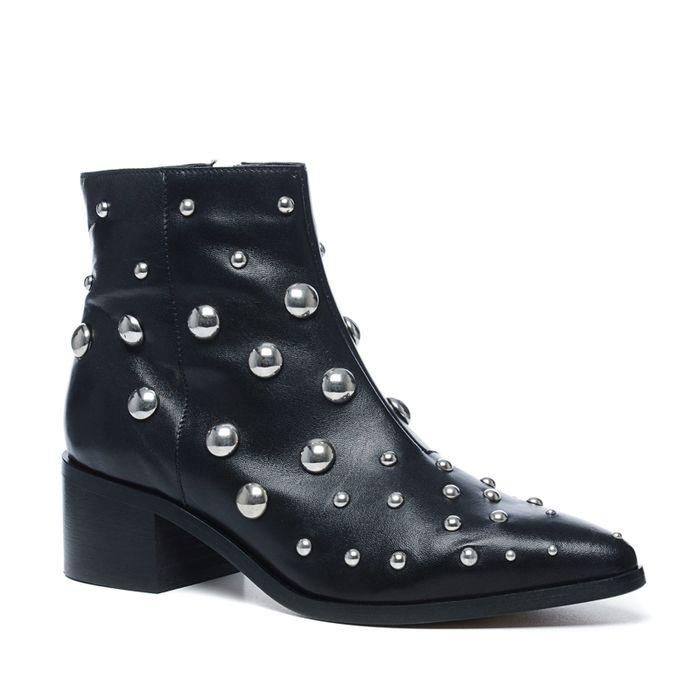 Sacha x Fashionchick zwarte enkellaarsjes met studs