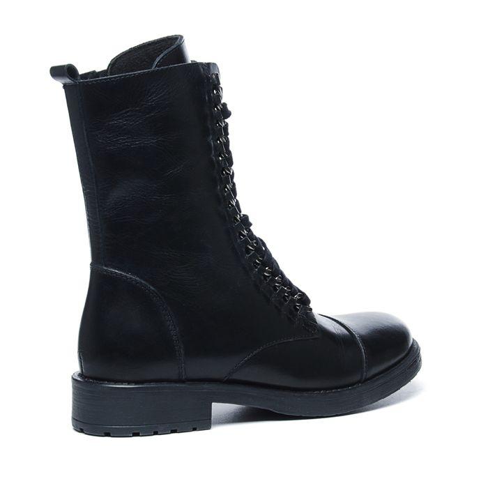 Sacha x Fashionchick zwarte veterlaarsjes