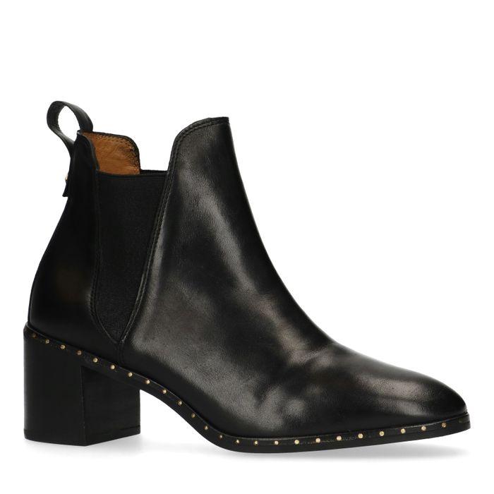 GANT zwarte leren chelsea boots met hak