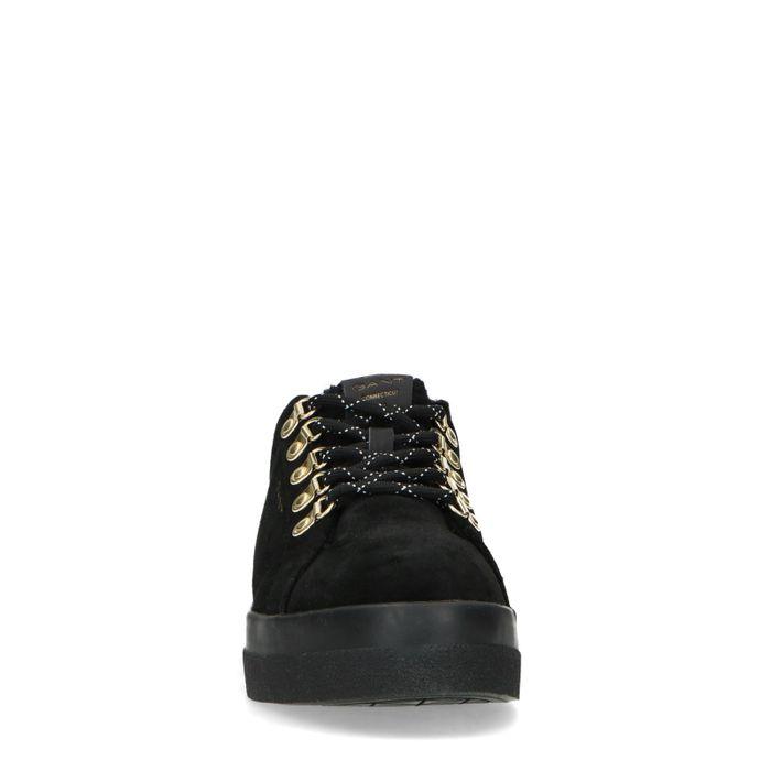 GANT Kelly zwarte sneakers met imitatiebont