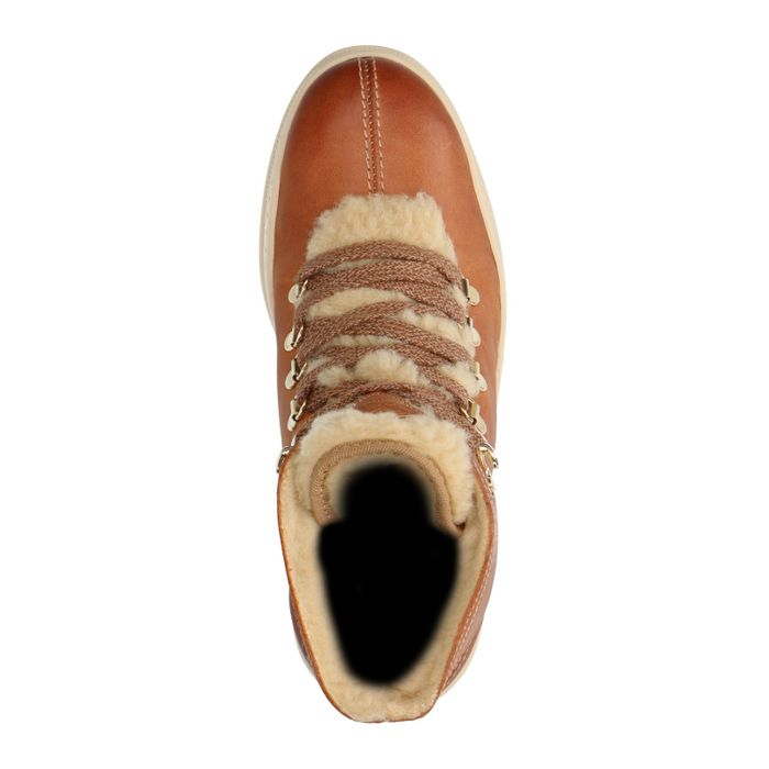 GANT Bottines à lacets en cuir - marron