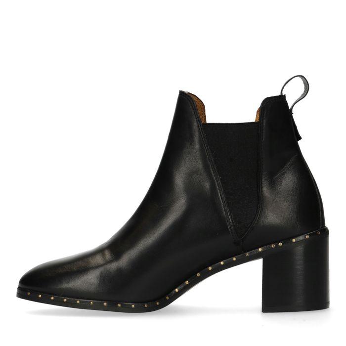 GANT Chelsea boots à talon en cuir - noir