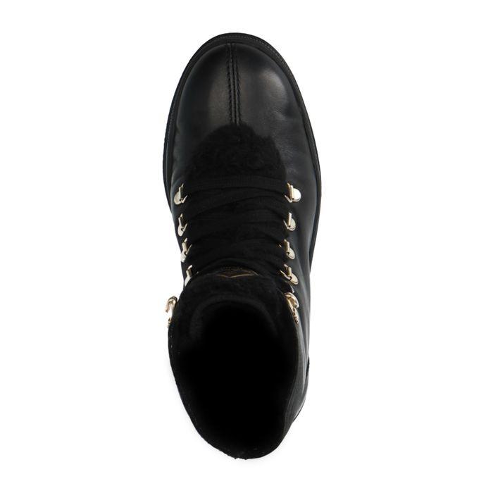 GANT Bottines à lacets en cuir - noir